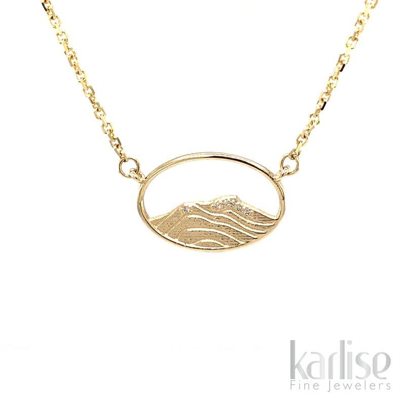 Karlise Fine Jewelers 14KY Diamond Vermont Mountain Necklace