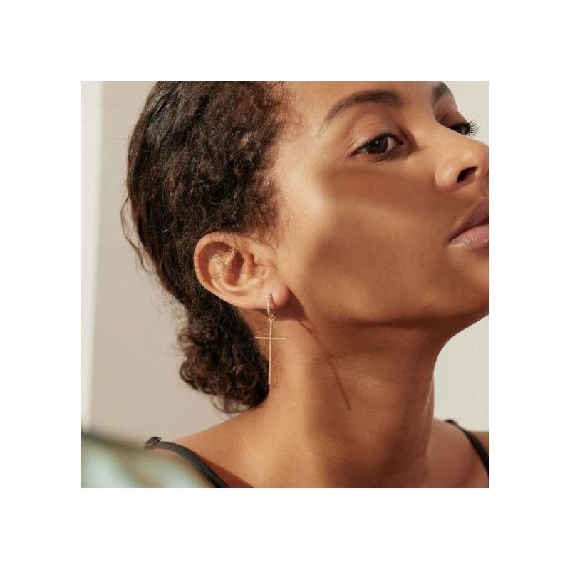 Aurelie Gi Delilah | Large Diamond Cross Earring Charm