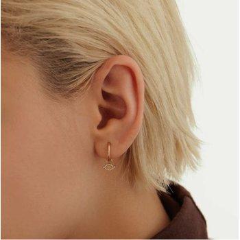 Helene | Diamond And Opal Evil Eye Earring Charm