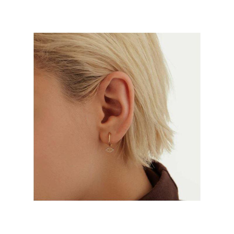 Aurelie Gi Helene | Diamond And Opal Evil Eye Earring Charm
