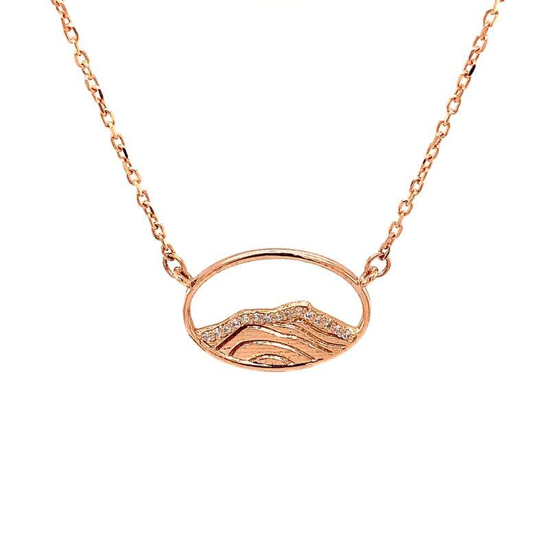Karlise Fine Jewelers 14KR Diamond Mountain Top Necklace