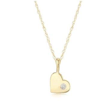 14KG DIAMOND HEART PENDANT