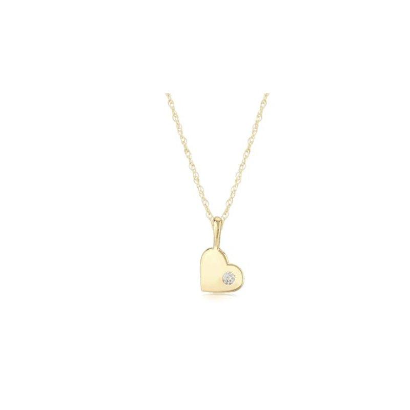 Carla 14KG DIAMOND HEART PENDANT