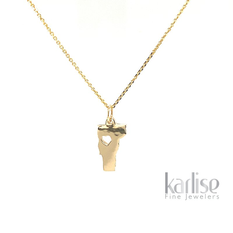 Karlise Fine Jewelers 14KY Small VT With Heart Cut Out
