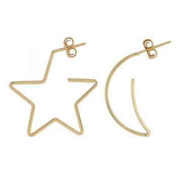 14KY MOON & STAR EARRINGS