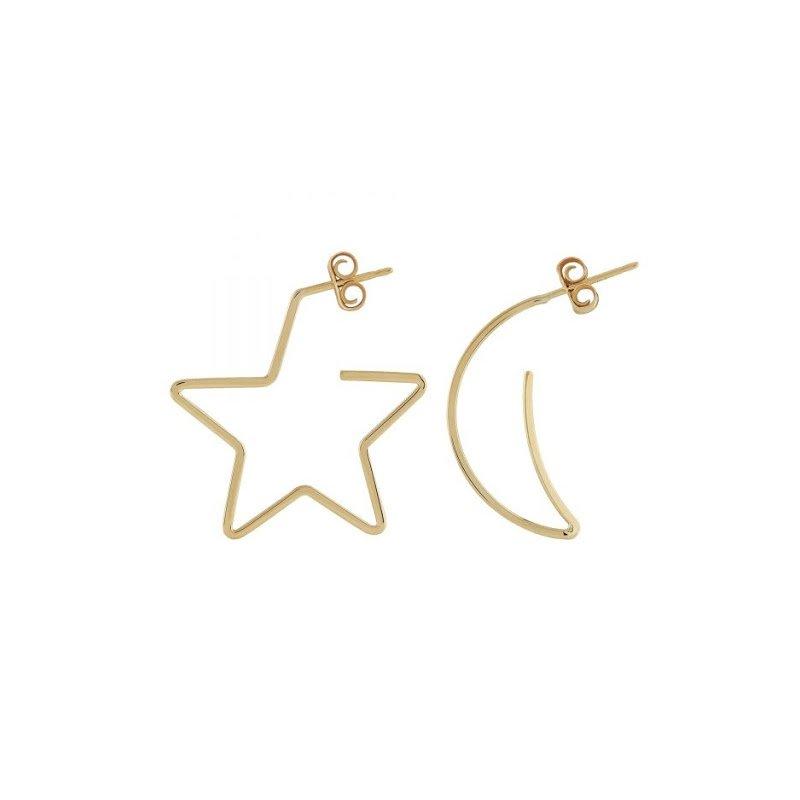Carla 14KY MOON & STAR EARRINGS