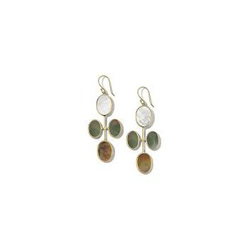 Ippolita 18kt Polished Rock Candy elongated oval clover earring in Sabbia. Available at our Halifax store.