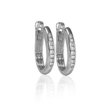 14kt white gold diamodn hoops 0.15ct. Available at our Halifax store