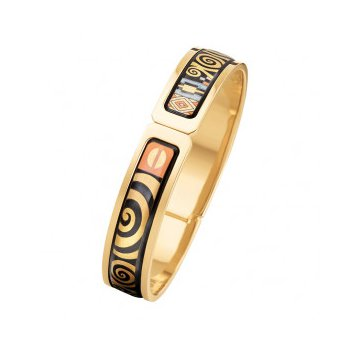 FreyWille hommage a Gustav Klimt Adele Bloch-Bauer ballerina clasp bangle, size M. Available at our Halifax store.
