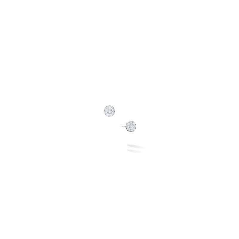 Birks Birks Snowflake Round Diamond Cluster Earrings In 18Kt White Gold 0.26Ct