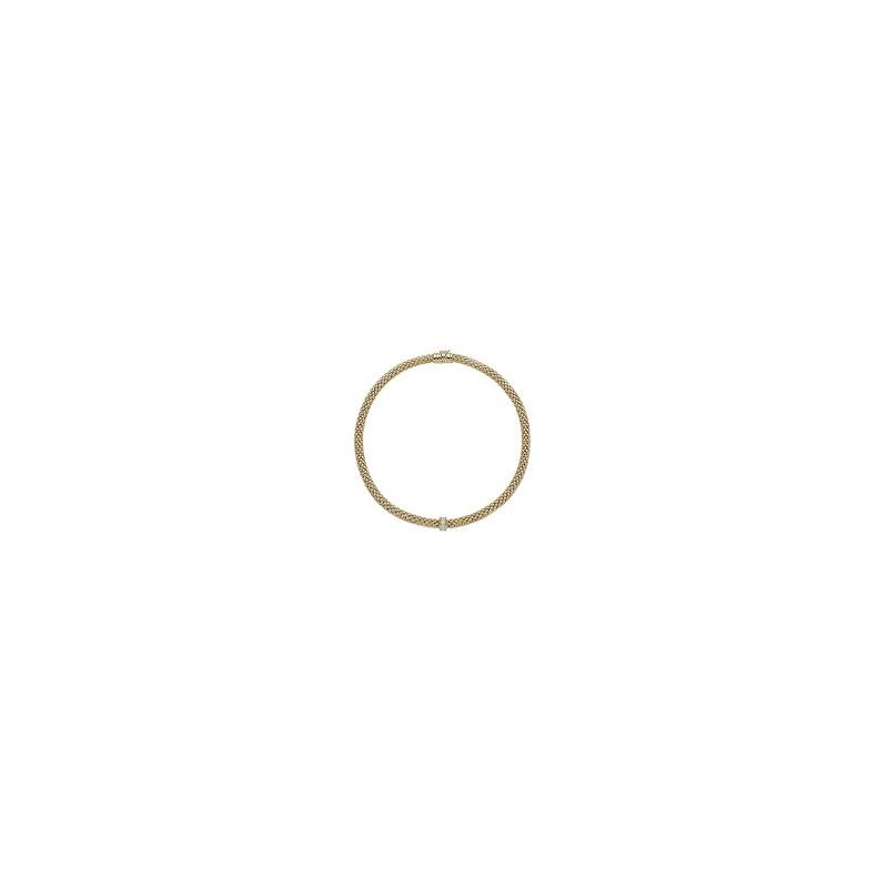 Fope Fope 18Kt Yellow Gold Love Nest Necklace With 0.33Ct Diamonds