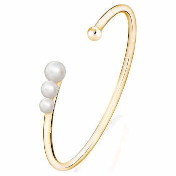 Birks Gold & Pearl Cuff With Freshwater Pearls 5-7Mm