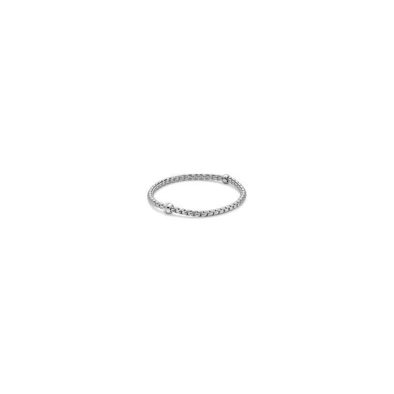Fope Fope 18Kt White Gold Eka Tiny Bracelet0.07Ct