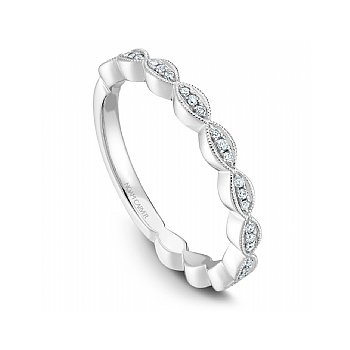 Noam Carver 14kt white gold Stackable diamond band, 33 Dia=0.13ct SI/GH