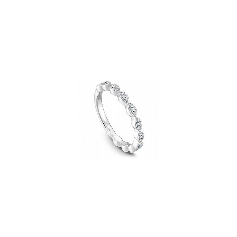 Noam Carver Noam Carver 14kt white gold Stackable diamond band, 33 Dia=0.13ct SI/GH