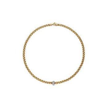 Fope Geoielli 18 Kt Yellow Gold Flex It Eka Necklace With Diamonds - 0. 15 Ctw