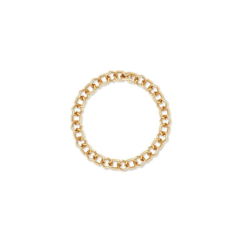 "Birks Birks Bee Chic Small Link Bracelet 18Kt Yg 8"""