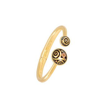 FreyWille Gustav Klimt double circle clasp bangle, size M.  Available at our Halifax store.