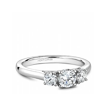 Carver Studio Ring 14kt white gold Trinity  1=0.50ct, 2= 0.36ct SI/GH