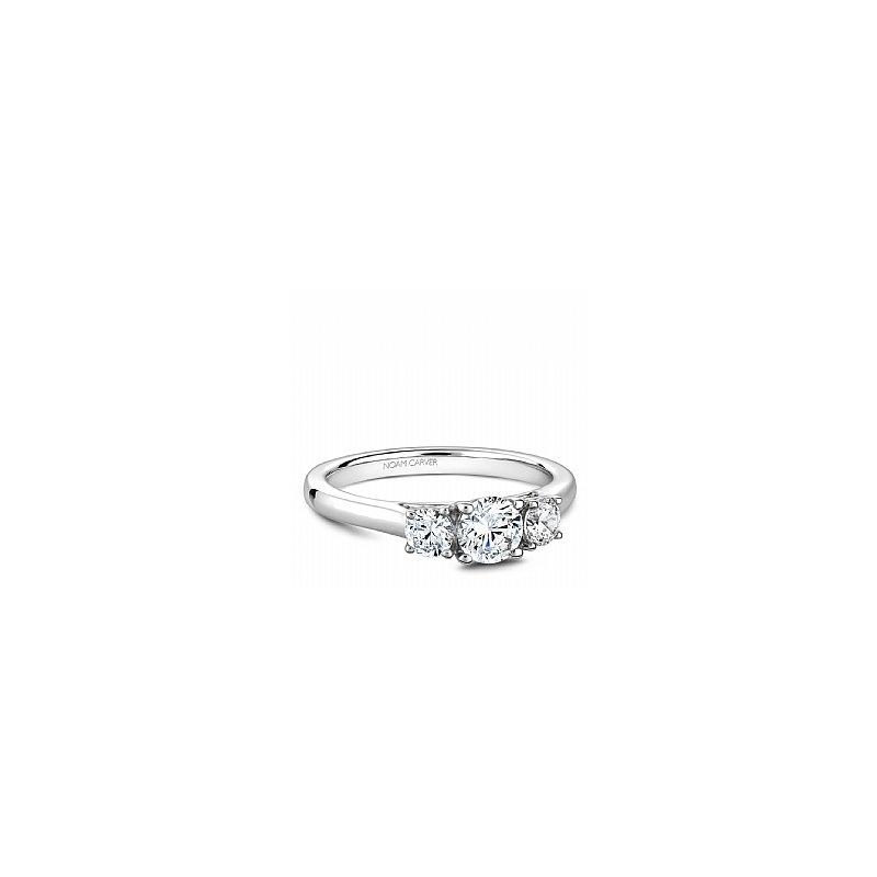 Noam Carver Carver Studio Ring 14kt white gold Trinity  1=0.50ct, 2= 0.36ct SI/GH