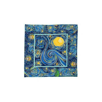"FreyWille Van Gogh silk scarf blue, 90x90"". Available at our Halifax store."