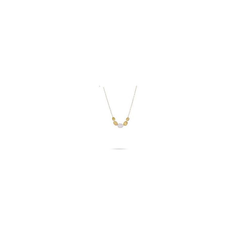 Marco Bicego Marco Bicego 18kt Lunaria necklace 0.53ct diamonds. Available at our Halifax store