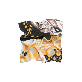 "FreyWille gavroche Klimt black silk scarf, 53x53"". Available at our Halifax store"