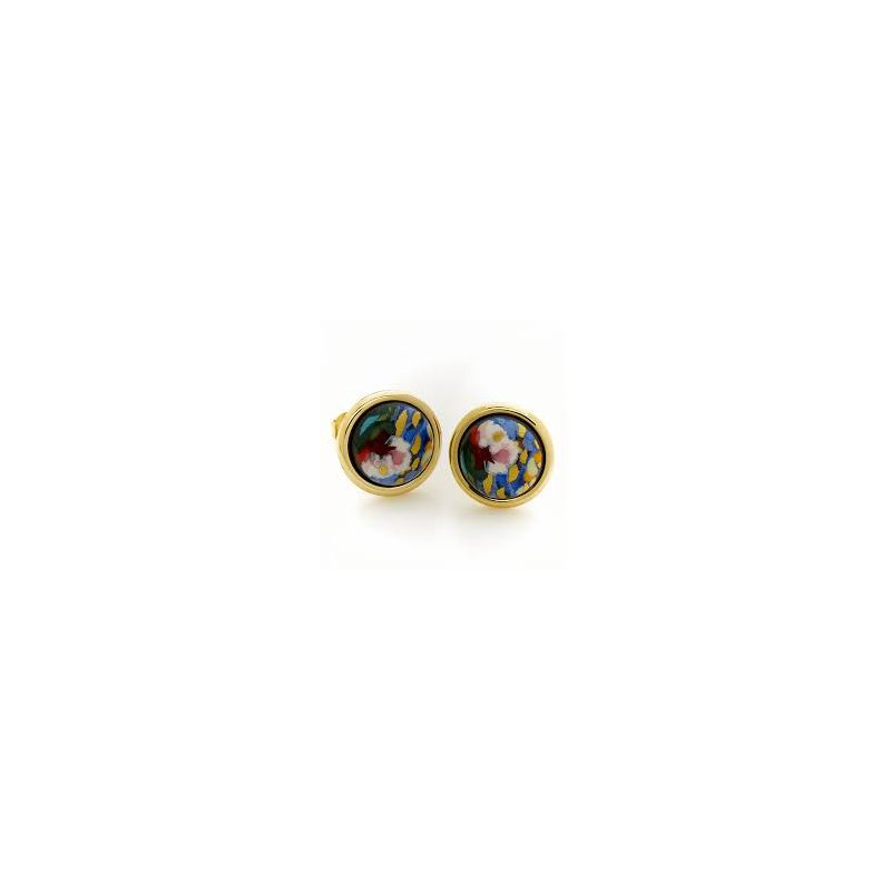 Freywille FreyWille hommage a Claude Monet orangerie mini cabochon stud earrings. Available at our Halifax store.