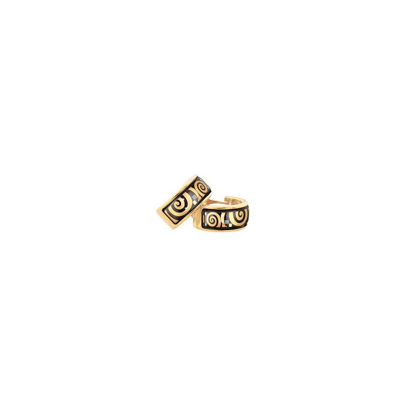 Freywille FreyWille hommage ohrschmuck creole earrings Gustav Klimt. Available at our Halifax store.
