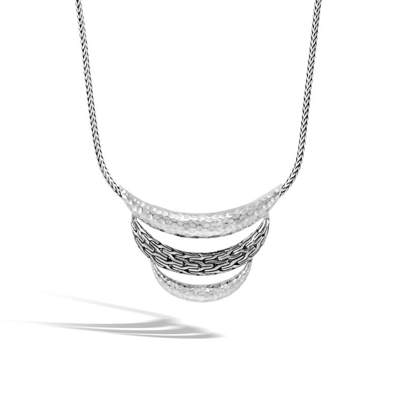 John Hardy Classic Chain Hammered Silver Necklace, 23.5 mm, Length 16-18. Available at our Halifax store.