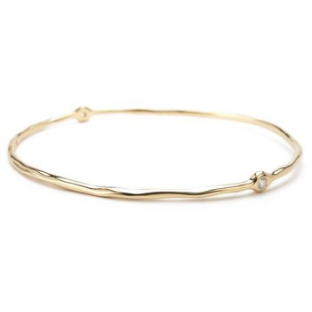 Ippolita 18kt Stardust Superstar 2 Bangle 0.13ct diamonds. Available at our Halifax store.