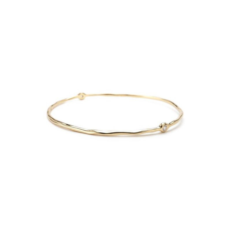 Ippolita Ippolita 18kt Stardust Superstar 2 Bangle 0.13ct diamonds. Available at our Halifax store.