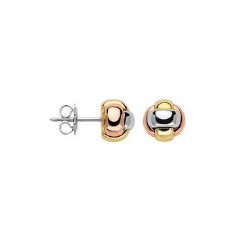 Fope 18Kt Tri-Colour Knot Studs