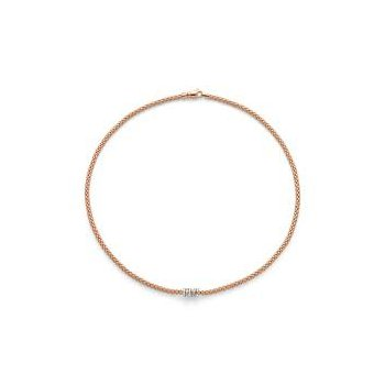 Fope 18Kt Yellow Gold Flex'it Prima Necklace 0.20Ct