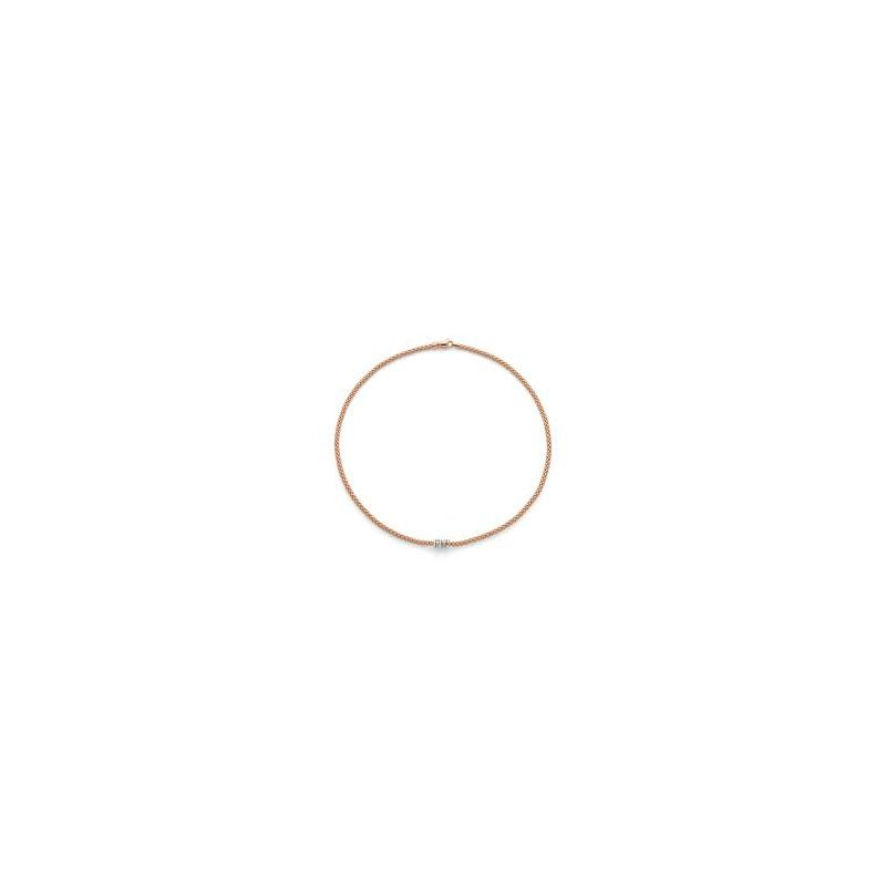 Fope Fope 18Kt Yellow Gold Flex'it Prima Necklace 0.20Ct