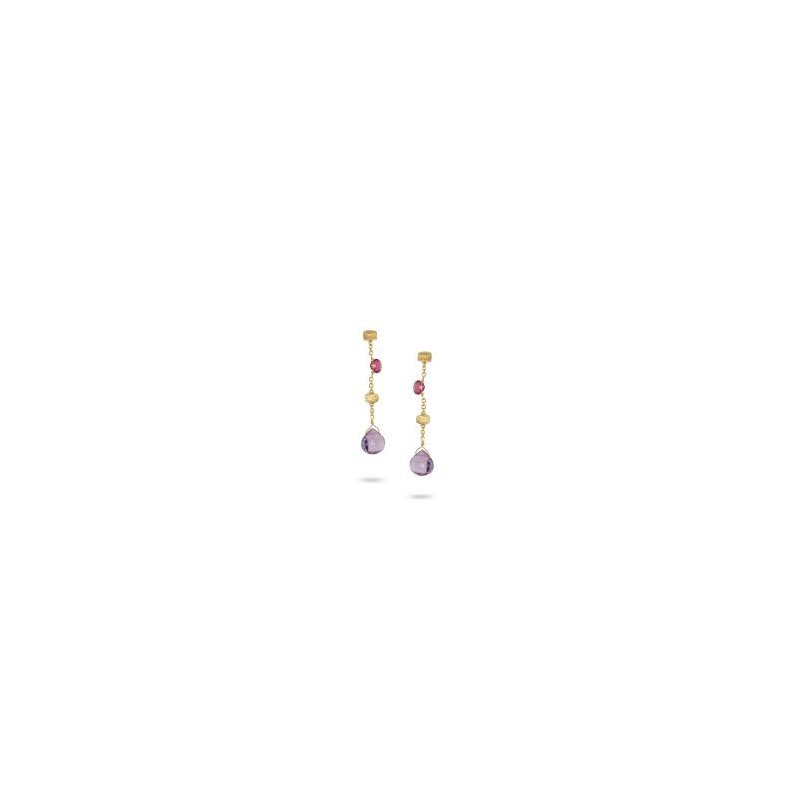 Marco Bicego Marco Bicego 18kt Paradise earrings with mixed gems. Available in our Halifax store
