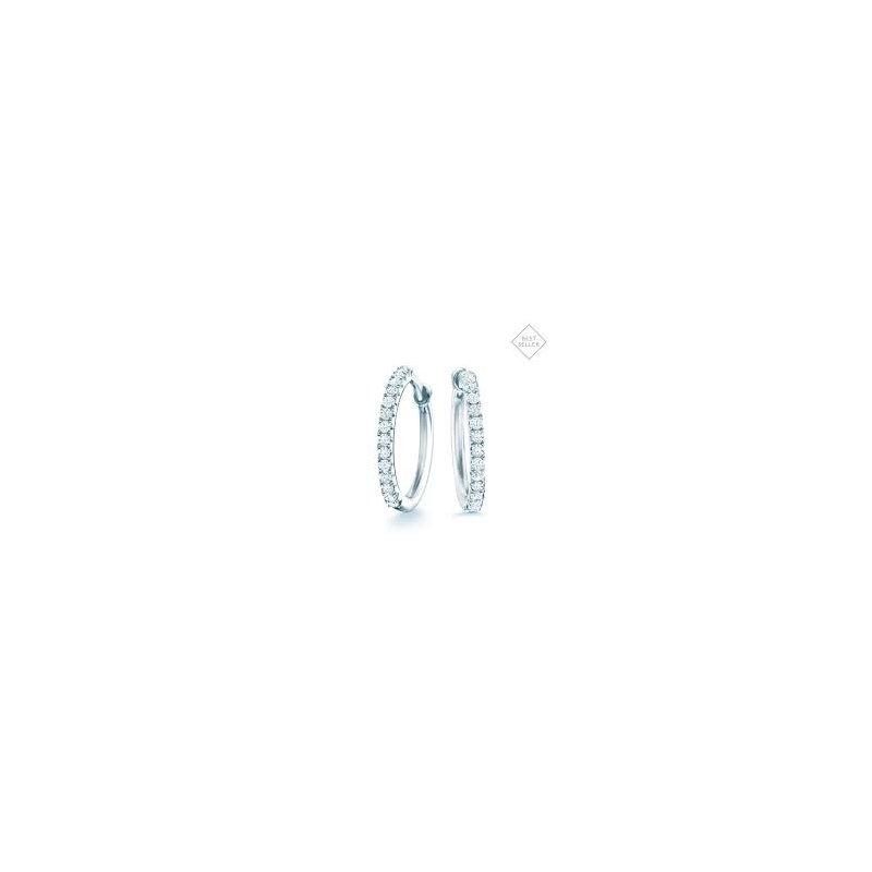 Birks Birks Rosee Du Martin 18K Wg Small Diamond Hoop Earrings 0.20Ct