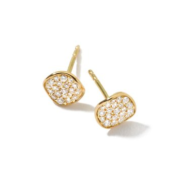 Ippolita 18kt Stardust mini flower stud earring 0.20ct diamonds. Available at our Halifax store.