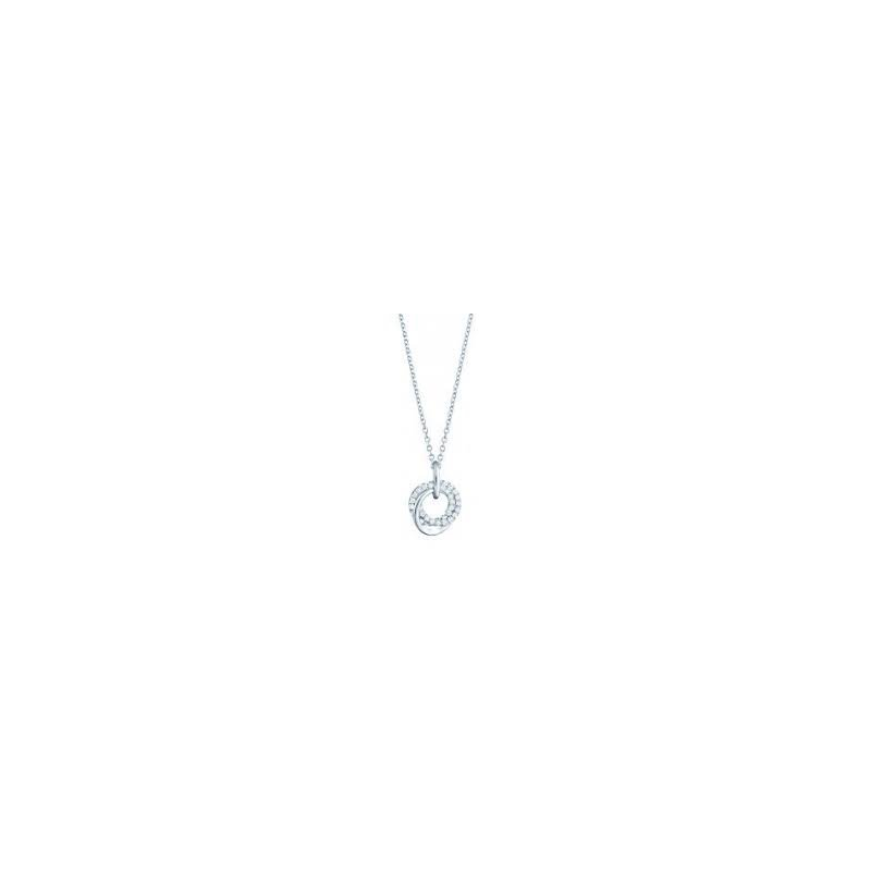 Birks Birks Les Plairsirs De Birks Pave Diamond Circles Pendant In 18Kt White Gold 0.21Ct