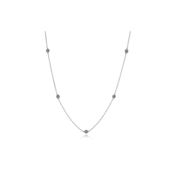 Simon G 18kt white gold diamond station necklace, 98=0.54ct. Available at our Halifax store.