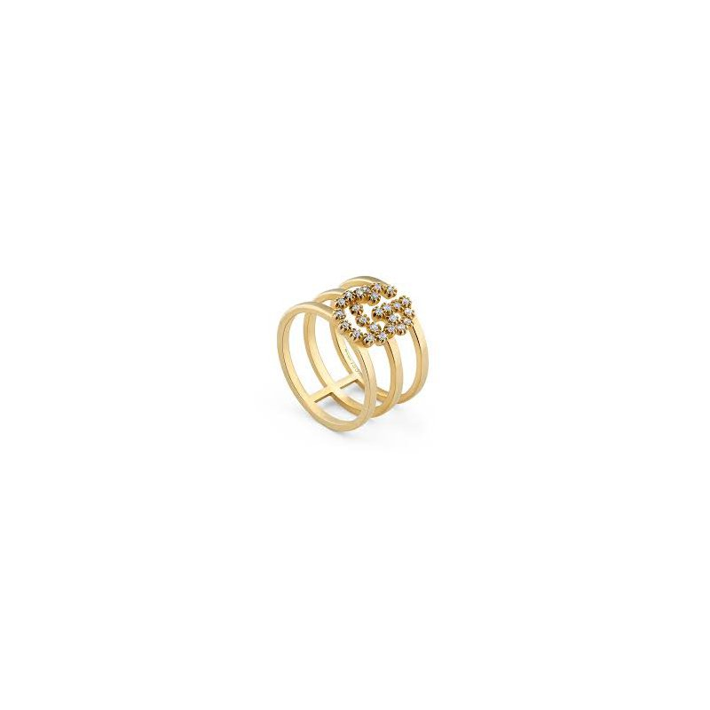 Gucci Gucci 18kt Running G ring, M First Phalanx, 0.12ct diamonds, Available at our Halifax store.