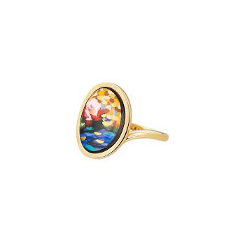 FreyWille hommage a Claude Monet orangerie waterdrop ring, size 53. Available at our Halifax store.