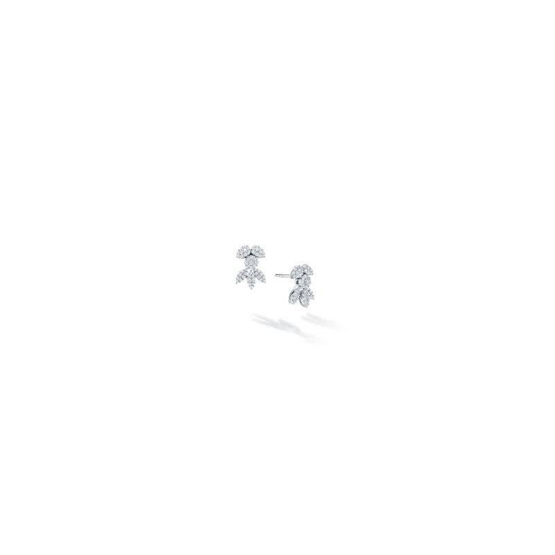 Birks Birks Snow Angel Stud Earrings In 18Kt White Gold And Diamonds 0.59Ct