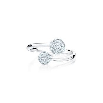 Birks Snowflake Diamond Bypass Ring In 18Kt White Gold, Dia=0.38Ct. Available at our Halifax store. Available at our Halifax store