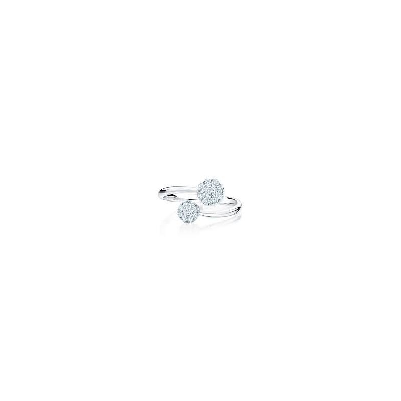 Birks Birks Snowflake Diamond Bypass Ring In 18Kt White Gold, Dia=0.38Ct. Available at our Halifax store. Available at our Halifax store