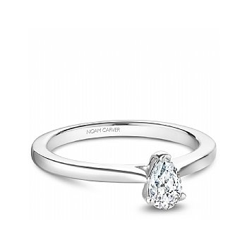 Nc Studio Ring 14Kt W Mount With One 0.70Ct Pear Shape Diamond Si/Gh
