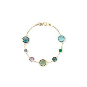 Ippolita 18kt Lolliopat o 7 stone link bracelet in Hologem. Available at our Halifax store.le