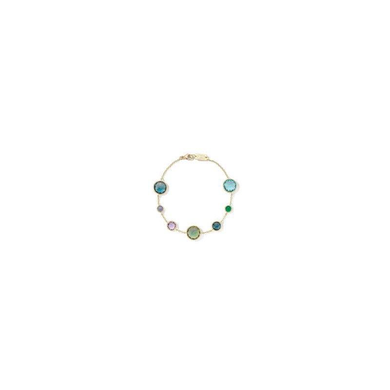Ippolita Ippolita 18kt Lolliopat o 7 stone link bracelet in Hologem. Available at our Halifax store.le