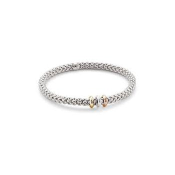 Fope Gioielli 18Kt Wg Flex'it Solo Bracelet With Tri-Tone Accents