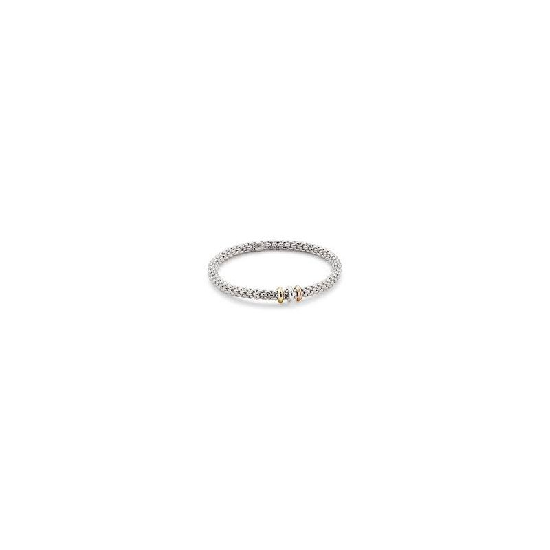 Fope Fope Gioielli 18Kt Wg Flex'it Solo Bracelet With Tri-Tone Accents
